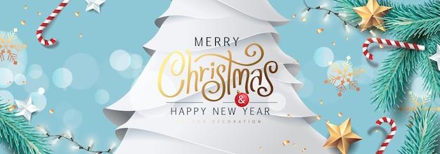 Fundo de feliz natal e feliz ano novo para cartões comemorativos