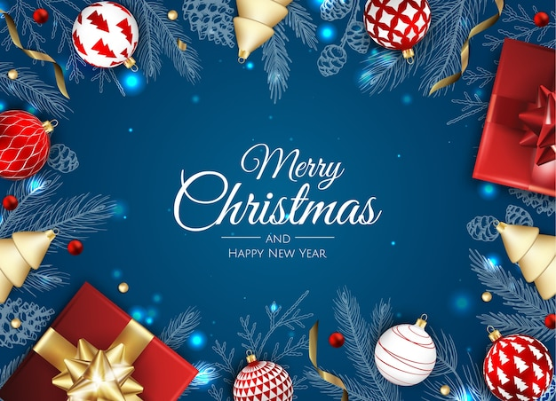 Fundo de feliz natal e feliz ano novo