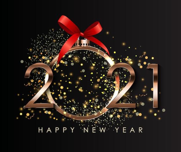 Fundo de feriado de feliz ano novo