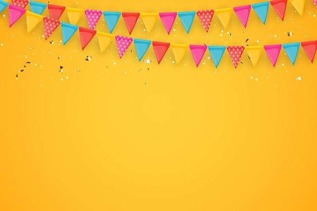 Fundo de férias com balões