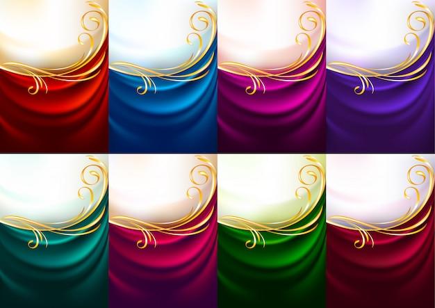 Fundo de férias conjunto de tecidos coloridos