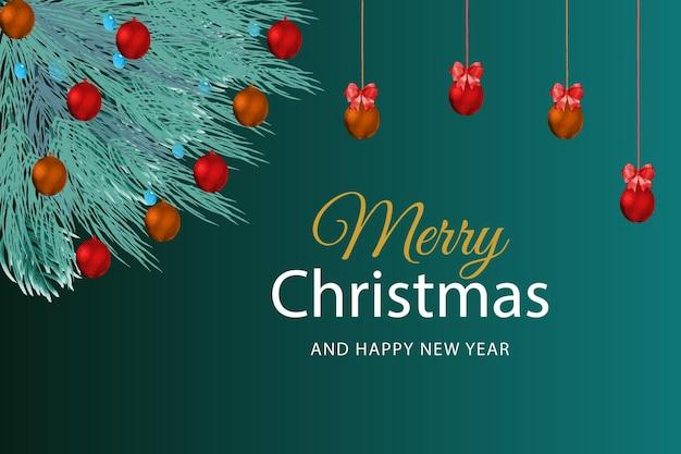 Fundo de férias de natal e ano novo cartão de felicitações de natal presentes de natal em fundo de mármore