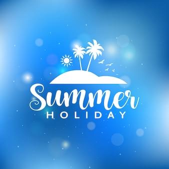 Fundo de férias de verão com luzes de bokeh