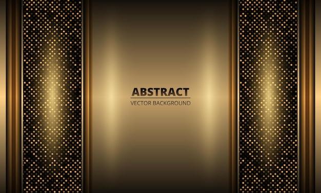 Fundo de ferro dourado elegante e luxuoso com decoração de pontos e brilhos