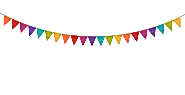 Fundo de festa com bandeiras