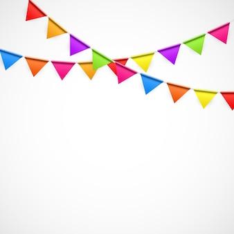 Fundo de festa com ilustração vetorial de bandeiras. eps10