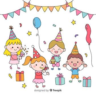 Fundo de festa de aniversário de crianças