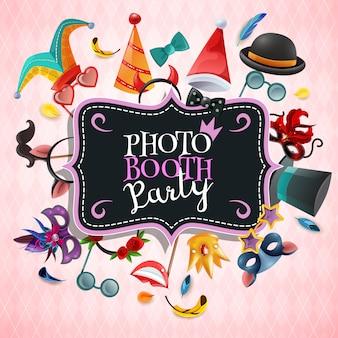 Fundo de festa de cabine de foto