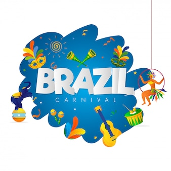 Fundo de festa de carnaval do brasil.