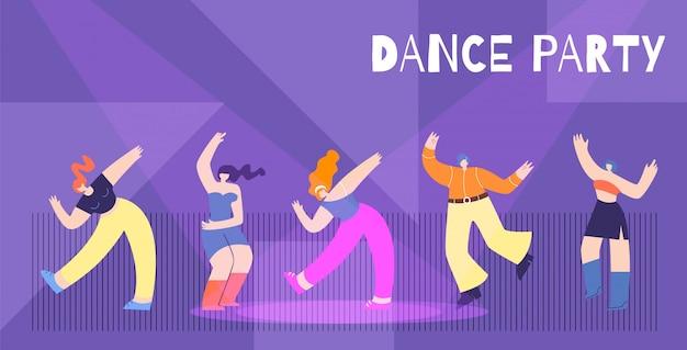 Fundo de festa de dança de motivação