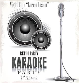 Fundo de festa de karaoke
