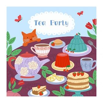 Fundo de festa do chá