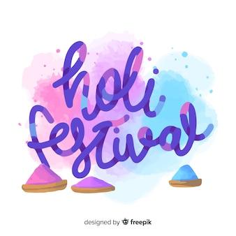 Fundo de festival plana holi