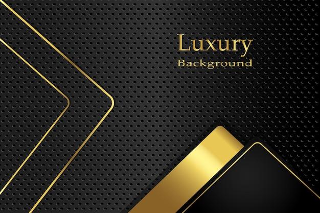 Fundo de fibra de carbono luxuoso dourado realista