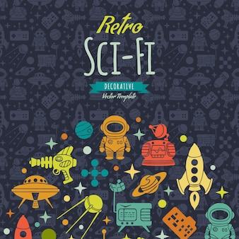 Fundo de ficção científica retrô