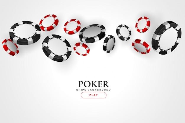 Fundo de fichas vermelhas e pretas de pôquer de cassino