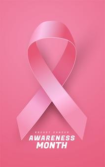 Fundo de fita de conscientização de câncer de mama