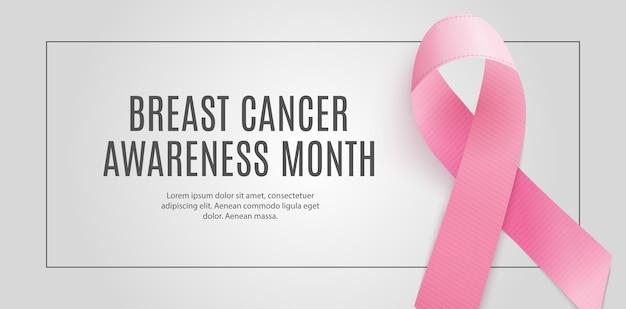 Fundo de fita rosa do mês de conscientização sobre o câncer de mama