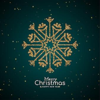Fundo de floco de neve brilhante festival de feliz natal