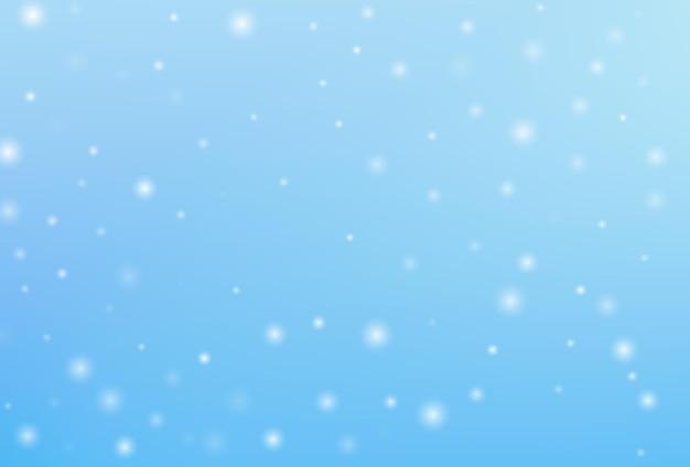 Fundo de floco de neve de natal de inverno. vetor de floco de neve caindo