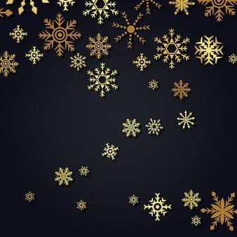 Fundo de flocos de neve do vetor