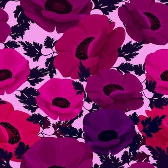 Fundo de flor de anêmona.