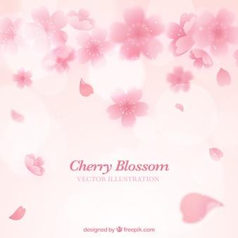Fundo de flor de cerejeira rosa