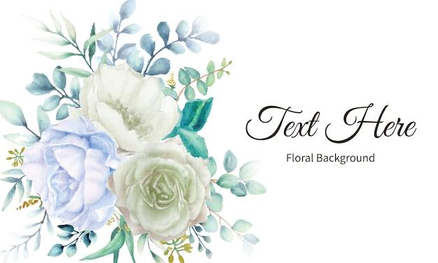 Fundo de flor elegante com aquarela floral