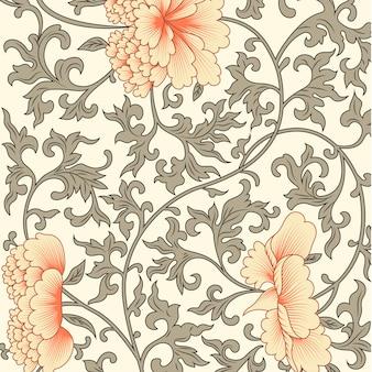 Fundo de flor em estilo chinês