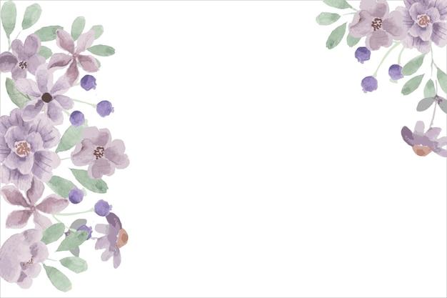 Fundo de flor roxa em aquarela