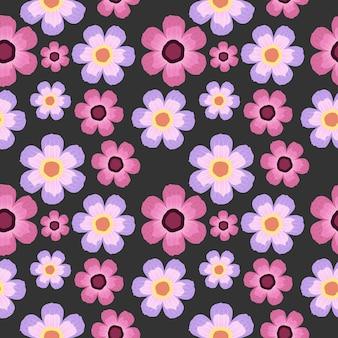 Fundo de flores botânicas sem costura padrão.