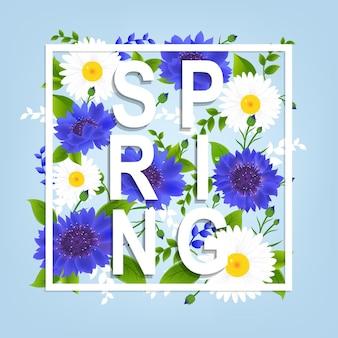 Fundo de flores da primavera