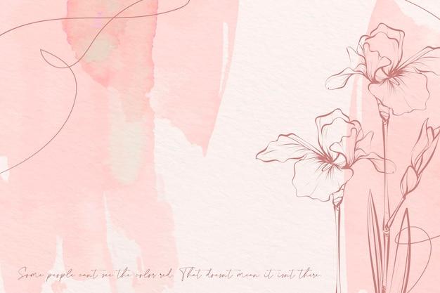 Fundo de flores de cores pastel