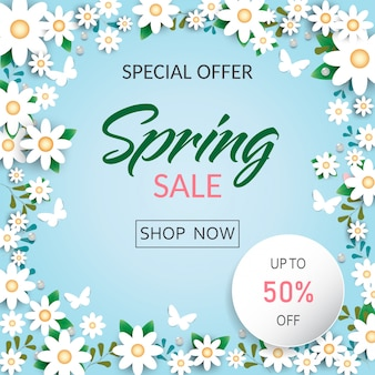 Fundo de flores de primavera