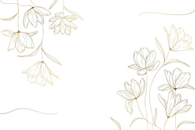 Fundo de flores desenhado à mão