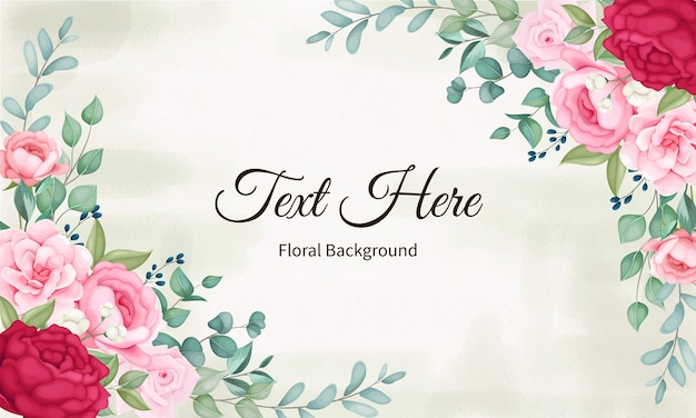 Fundo de flores e folhas bonitas