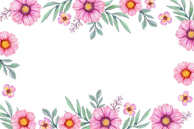 Fundo de flores em aquarela em tons pastel