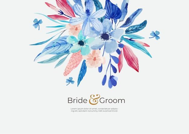 Fundo de flores em aquarela para casamento