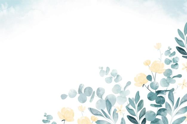 Fundo de flores em aquarela pintado à mão