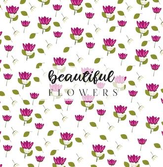 Fundo de flores lindas