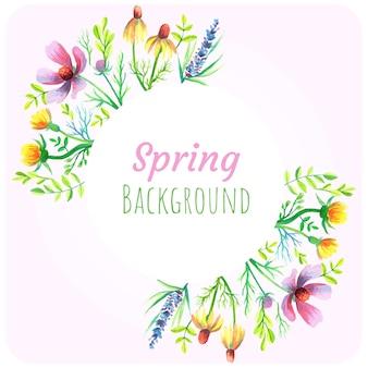 Fundo de flores silvestres de primavera