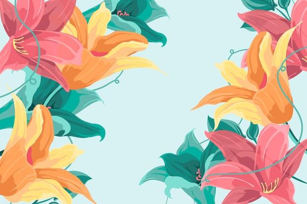 Fundo de flores vintage 2d