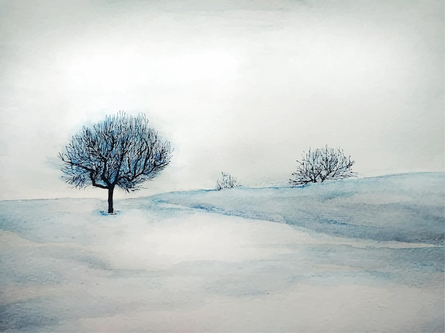 Fundo de floresta de natureza abstrata de paisagem aquarela