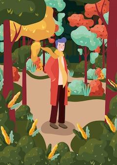Fundo de floresta outono