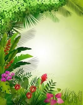 Fundo de floresta tropical exótica