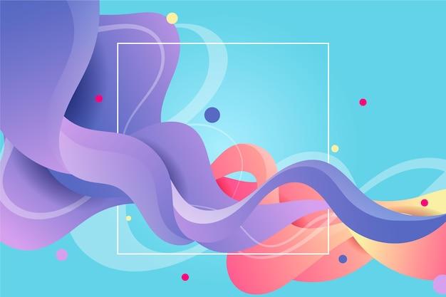 Fundo de fluxo colorido