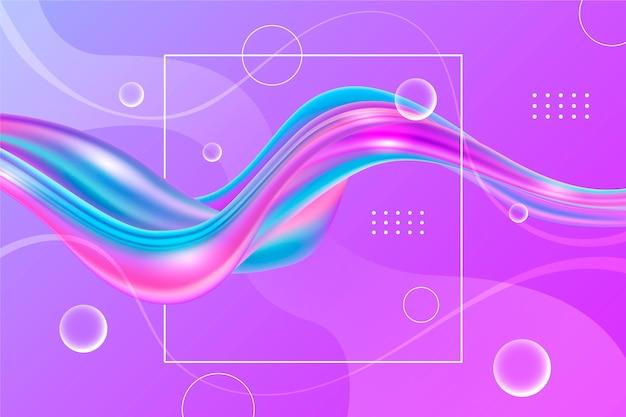 Fundo de fluxo de cor com bolhas