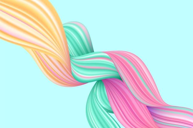 Fundo de fluxo de cor trançada
