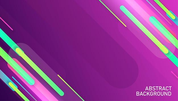 Fundo de fluxo de formas geométricas abstratas digitais