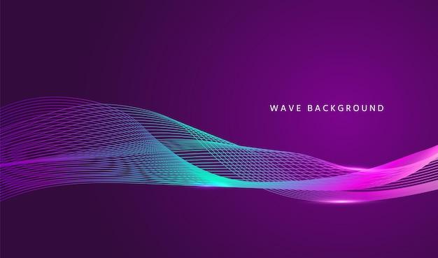 Fundo de fluxo de onda. banner de linha ondulada. ilustração vetorial.